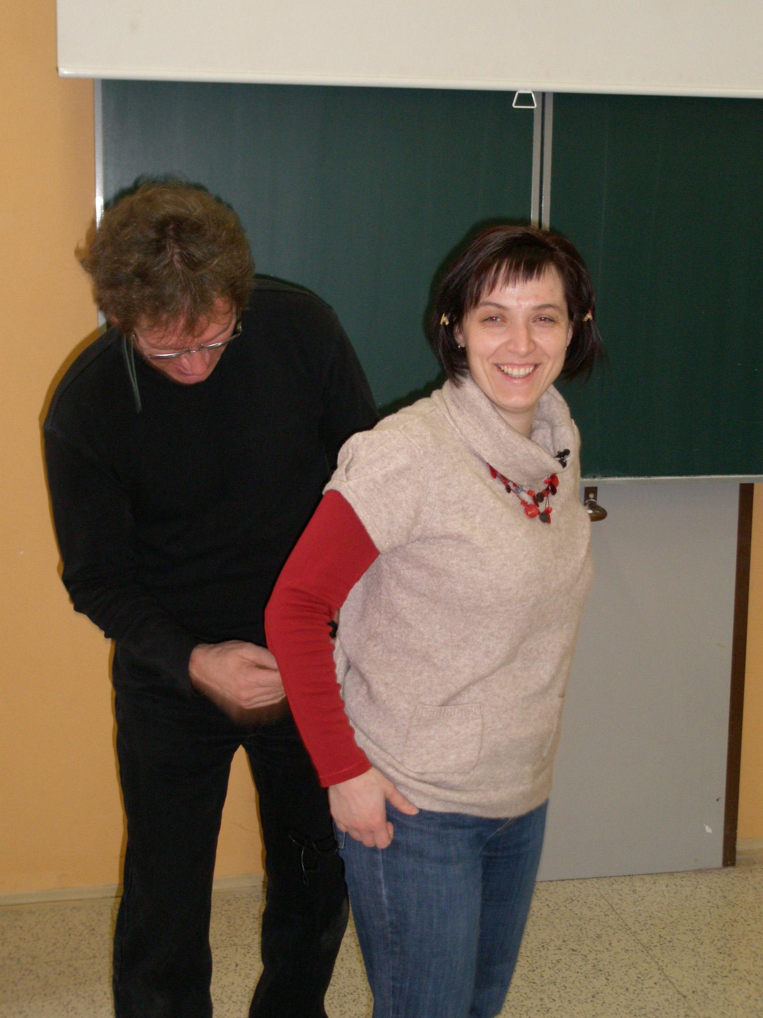 Mgr. Šepsová při přípravě natáčení