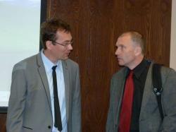 doc. Tomáš Janík (manažer Kvalitní školy) a doc. Petr Urbánek (TUL)