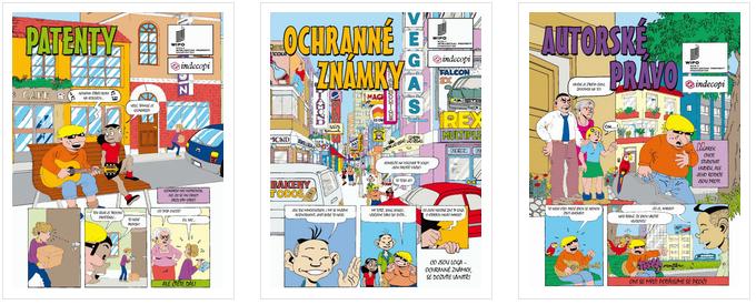 Jak je to s patenty, ochrannými známkami a autorským právem si můžete stáhnout ve formě komiksů v Rubrice pro mladé.