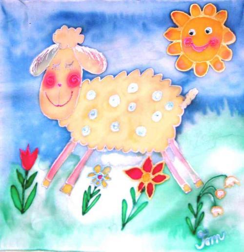 Ovečka na hedvábí