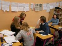 Helena Kommová se svými žáky