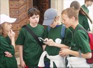 Děti při projektu