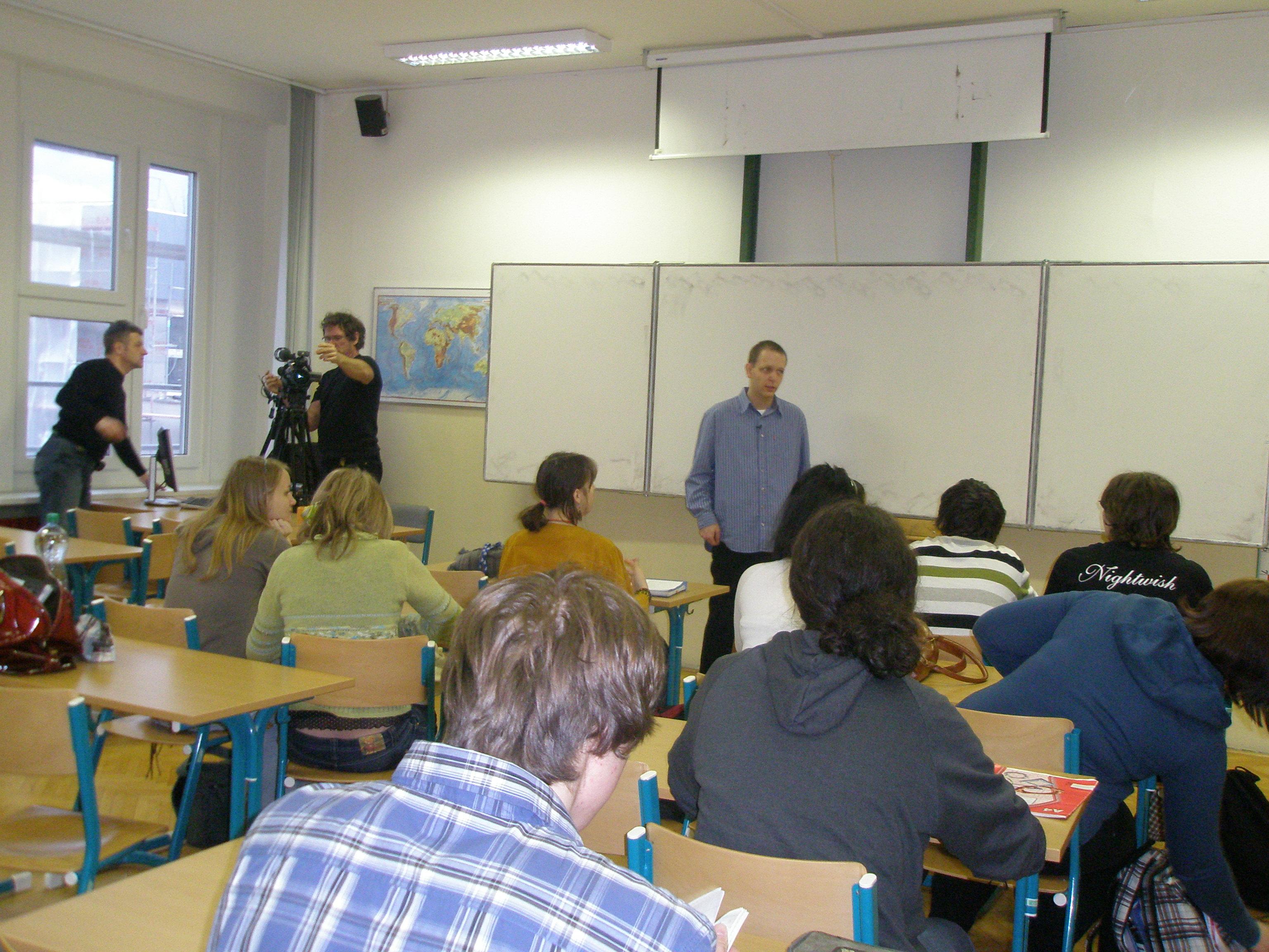 Tomáš Minster s žáky